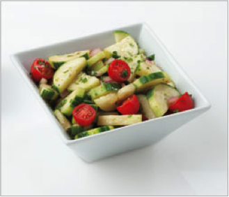 Reset food recipe Cucumber and Tomato Salad