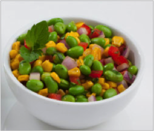 Reset food recipe Edamame and Roasted Corn Succotash