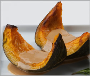 Reset food recipe Kabocha Squash with Garlic-Tahini Filling