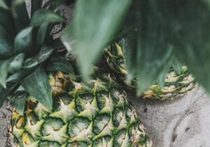 Low blood sugar causes muscle mass reduction. A pineapple sits on a counter top