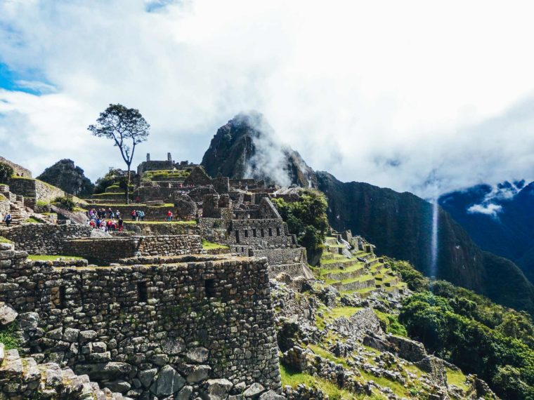 Tips for trekking the Inca Trail to Machu Pichu. Looking at the far side of Machu Pichu after entering down from the sun gate