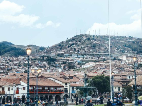 Why travelling Cusco is epic! A view of the city from the town centre