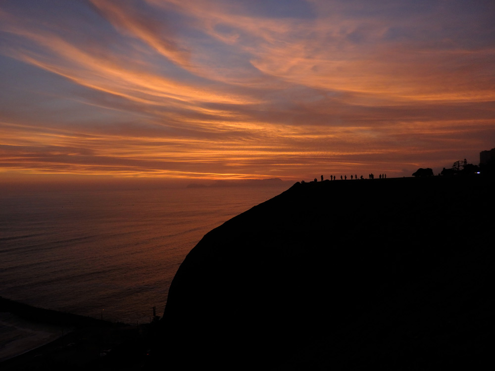 This hostel made travelling Lima awesome. The sunset view from Miraflores on along Lima's coastline