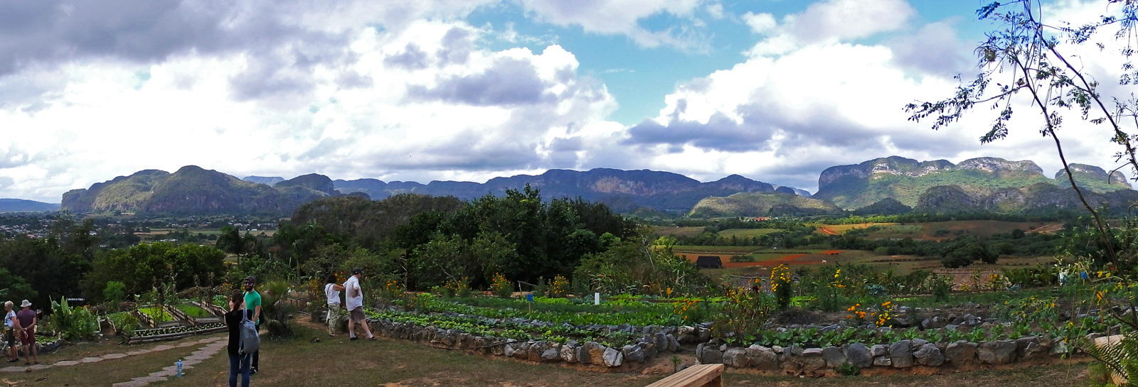 One awesome reason to backpack Vinales. A view of Vinales looking out over the fields and mountains