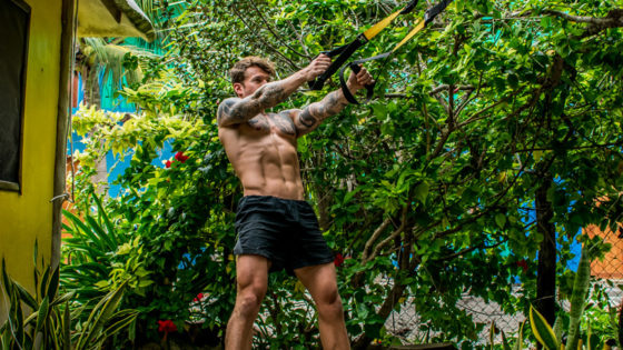TRX legs workout for home and travel