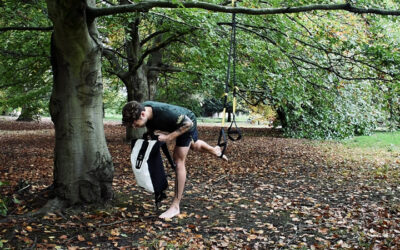 TRX and rucksack leg exercise workout