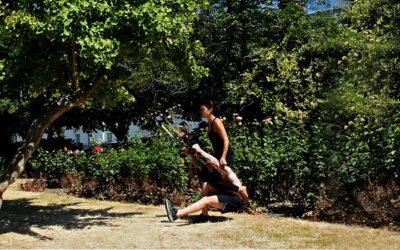 TRX leg exercise for building strength