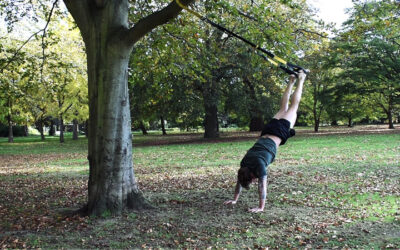 TRX hand stand shoulder workout exercise