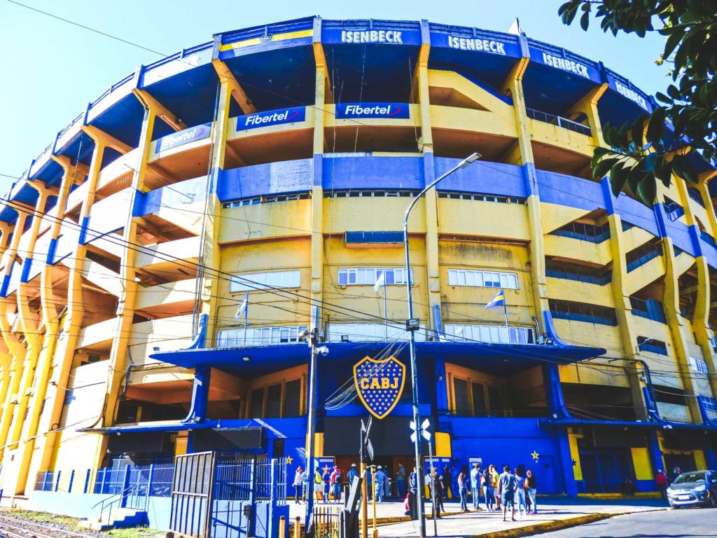 Here's why after travelling Buenos Aries I want to live there. The Bocas football stadium bright yellow and blue
