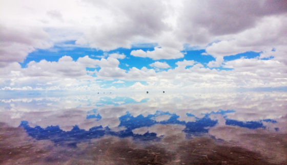 Backpacking the Salt Flats? Here's some useful tips. The reflection illusion created by the salt flats of the sky and clouds