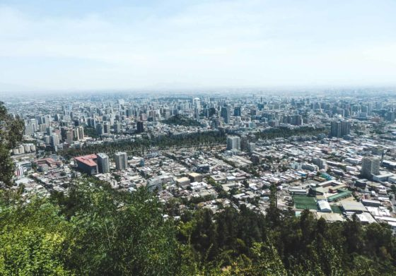 How to travel, live and breath Santiago. The view from the San Cristobal at the very top looking over the whole city of Santiago. A must do walk.