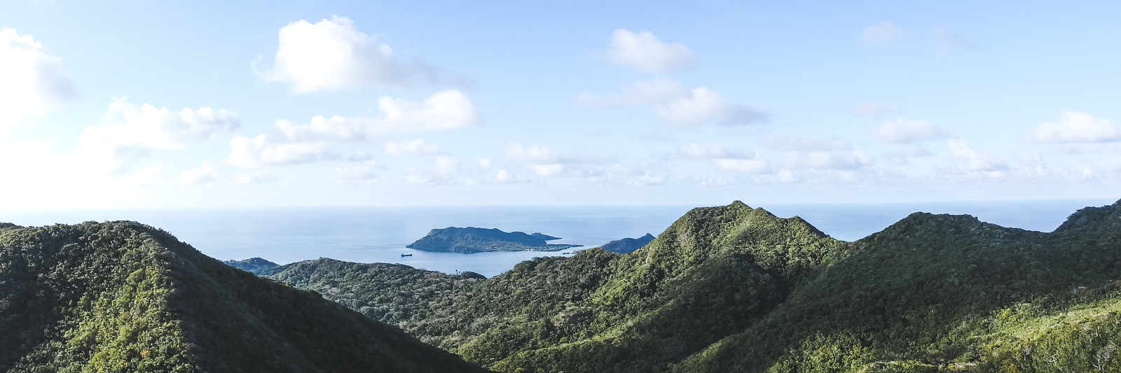 Why travelling Providencia Island shows you true paradise. The view from the top of the hill in the middle of the island. Trekking up here is a must