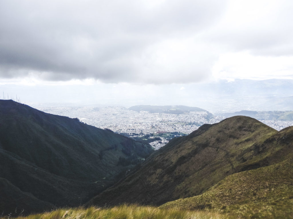 Why travelling Quito is like being with a woman. The views of Quito from the top of the teleferico