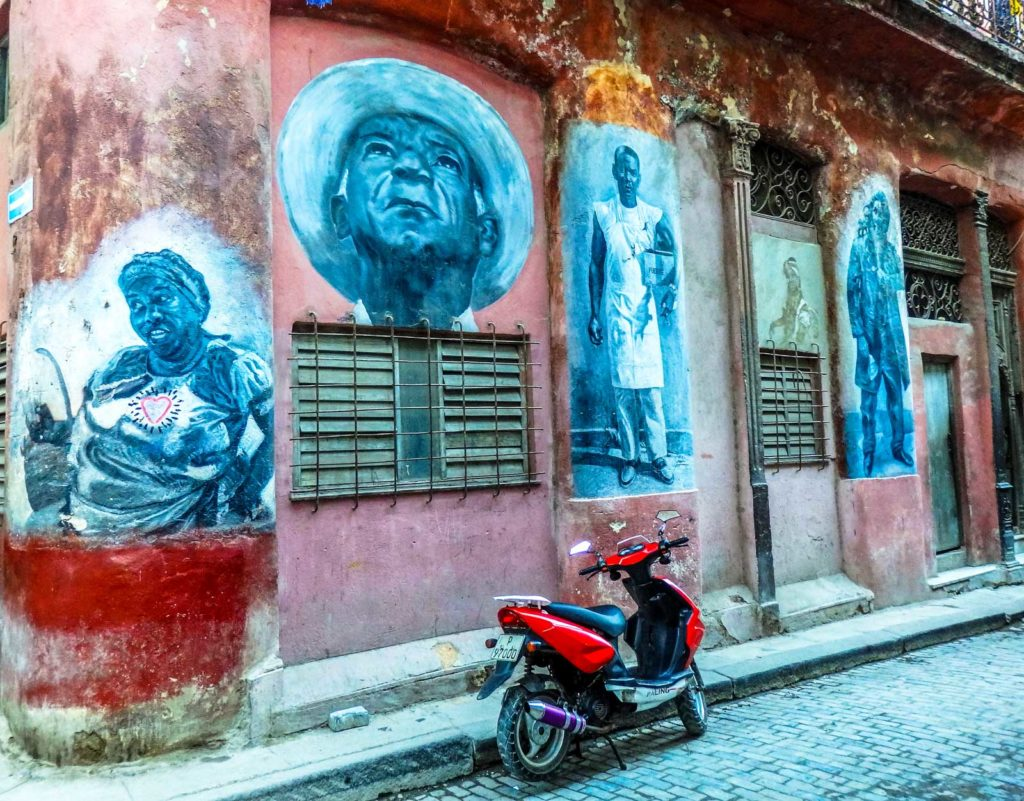 Here's why you'll feel at home backpacking Havana. The graffiti in down town Havana