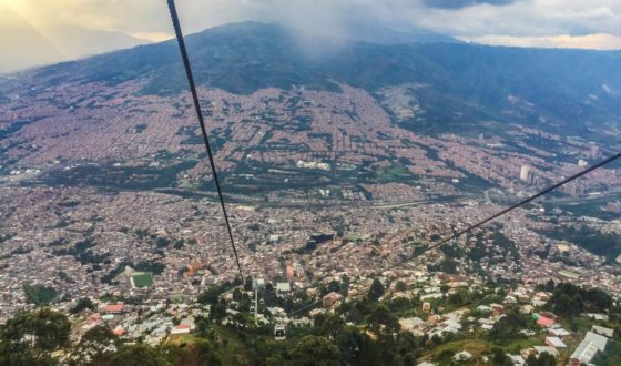 Why I'd live in Medellin after travelling it. The view of Medellin from the top of the teleferico