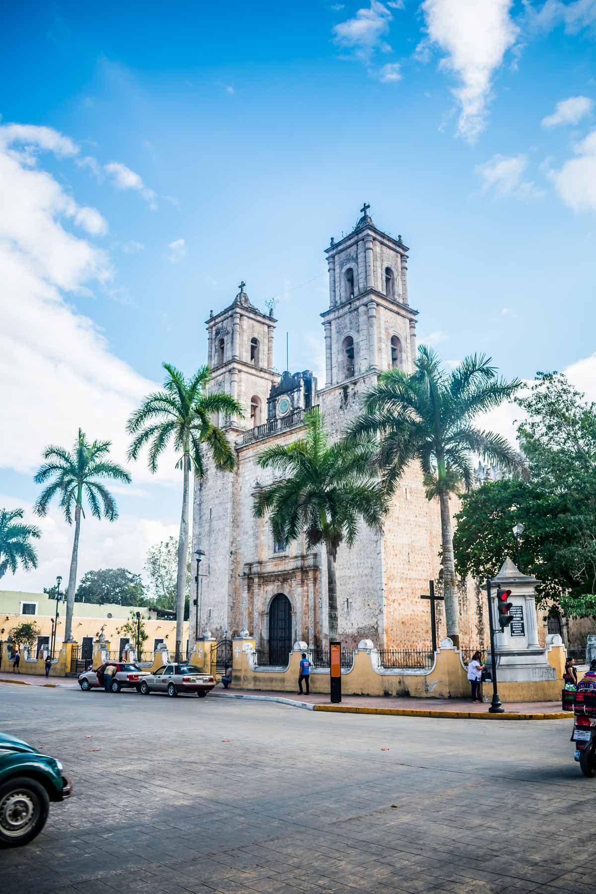 20 EPIC Valladolid Instagram spots for travelling Mexico. A view of Cathedral of San Gervasio in the main square