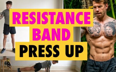 How to do a Resistance Band chest exercise Press Ups