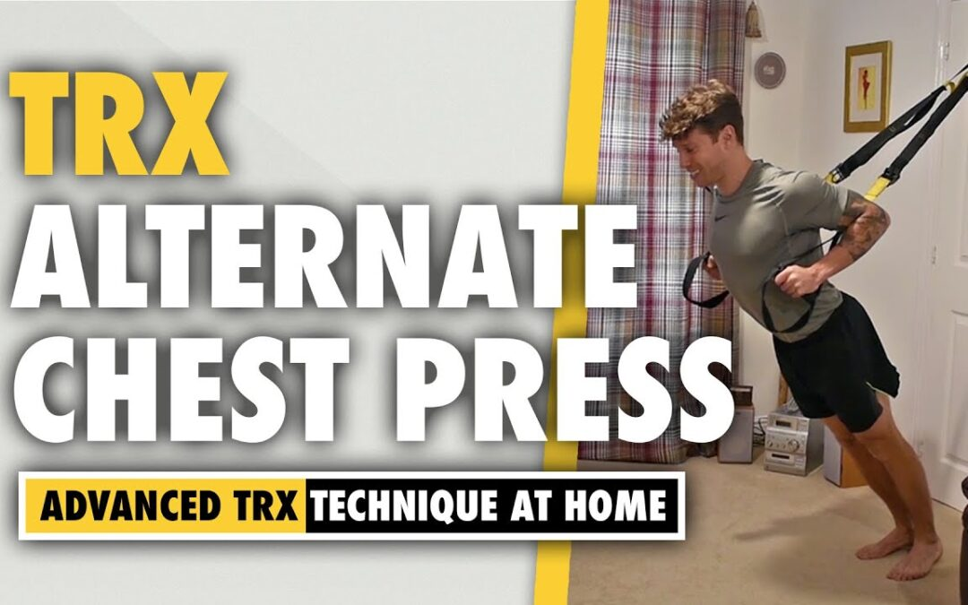 How to do a TRX Alternate Grip Chest Press exercise for pectoral development