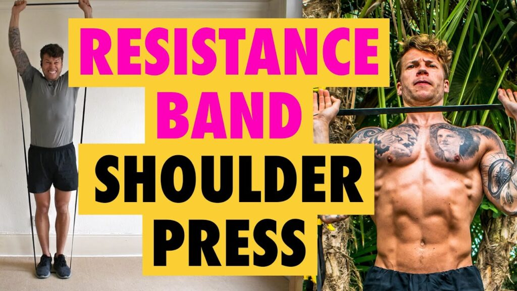 How to do a Resistance Band Shoulder Press exercise