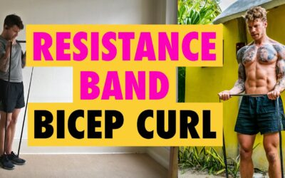 How to do a Resistance Band arms exercise Bicep Curl