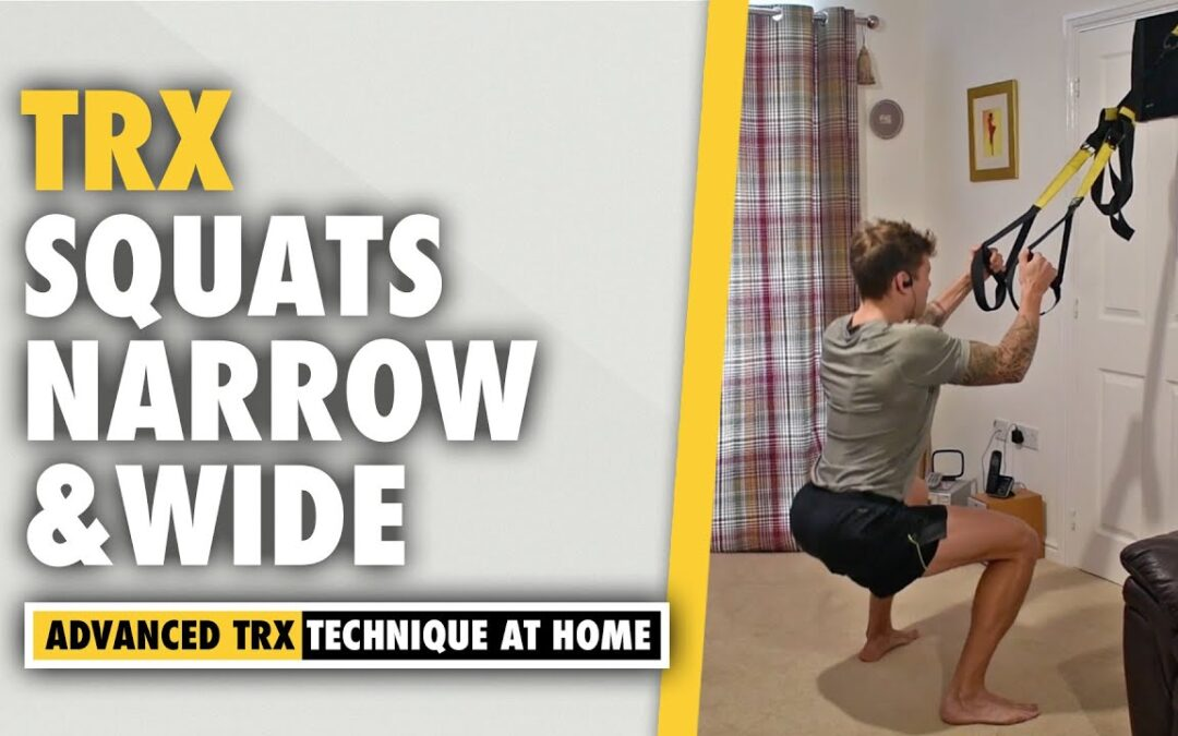 How to do a TRX Wide and Narrow Squats leg exercise