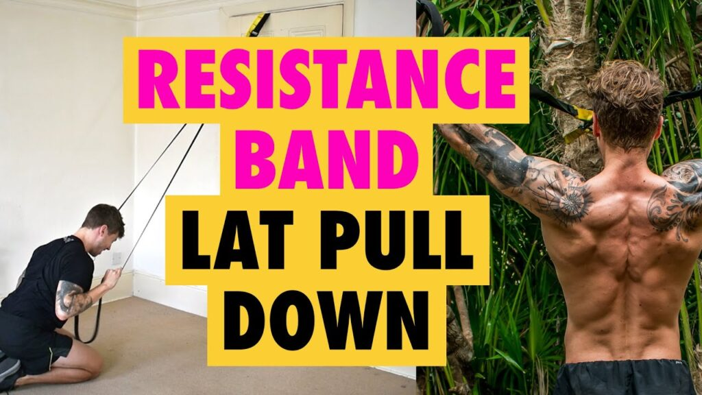 How to do a Resistance Band Lat Pull Down exercise for back WIDTH