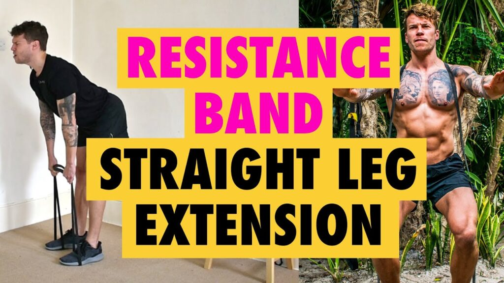 The Resistance Band Straight Leg Hamstring Extension exercise