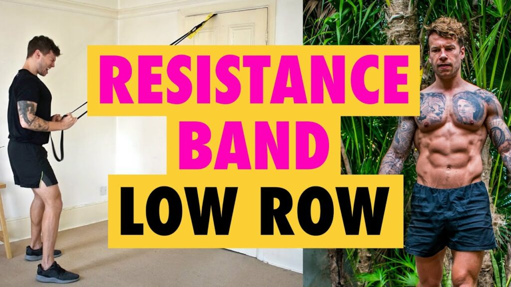 How to do a Resistance Band Low Row exercise for back thickness