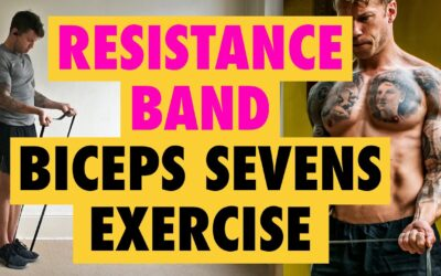 How to do an *INTENSIVE* Resistance Band curl exercise for the biceps