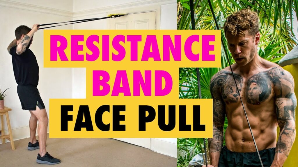 How to do a Resistance Band Face Pull exercise for shoulder girdle strengthening