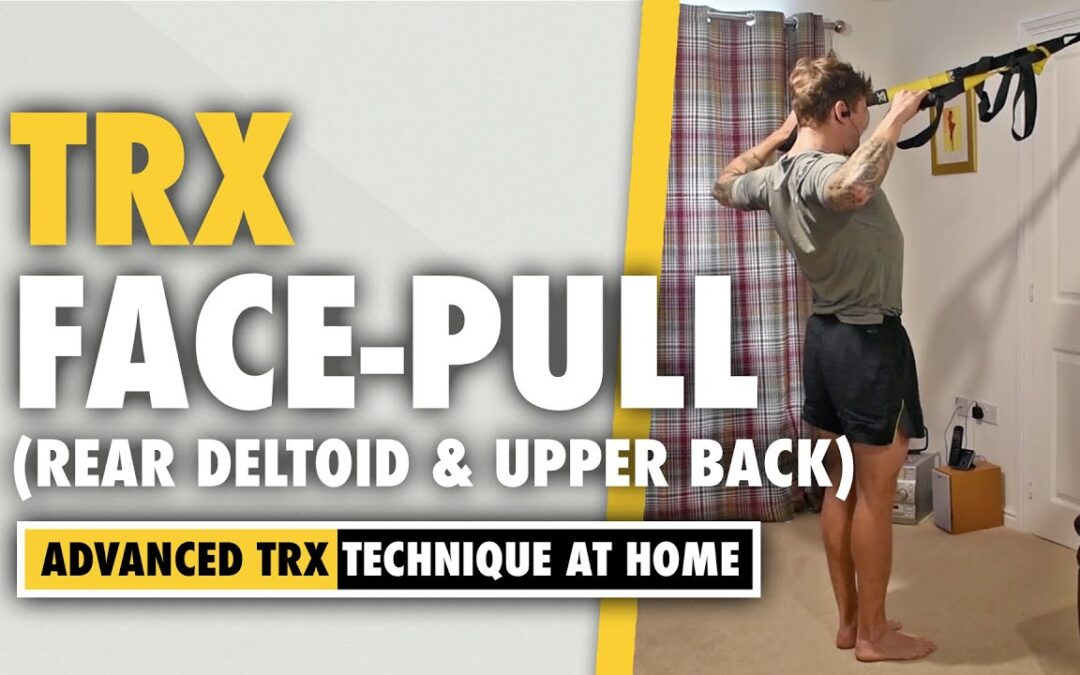How to do a TRX shoulder strengthening Face Pull exercise