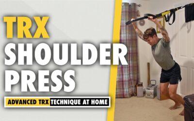 How to do a TRX Shoulder Press exercise for BOLDER & ROUNDER shoulders