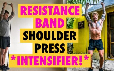 How to do a *INTENSIVE* Resistance Band shoulder Press Exercise (1&1/2 reps)