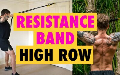 How to do a Resistance Band High Row exercise for back WIDTH