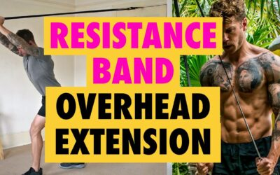 The Resistance Band Overhead Tricep Extension is THE BEST arms exercise