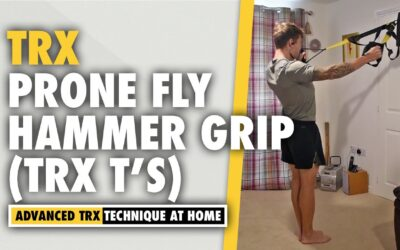 TRX T's Shoulder Exercise – Hammer Grip – Prone Fly