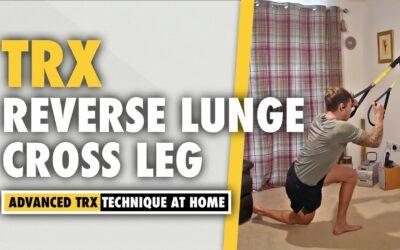 TRX Reverse Lunge Cross Leg Exercise