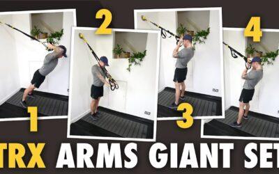 4 TRX Exercises Giant Set for Biceps & Triceps.