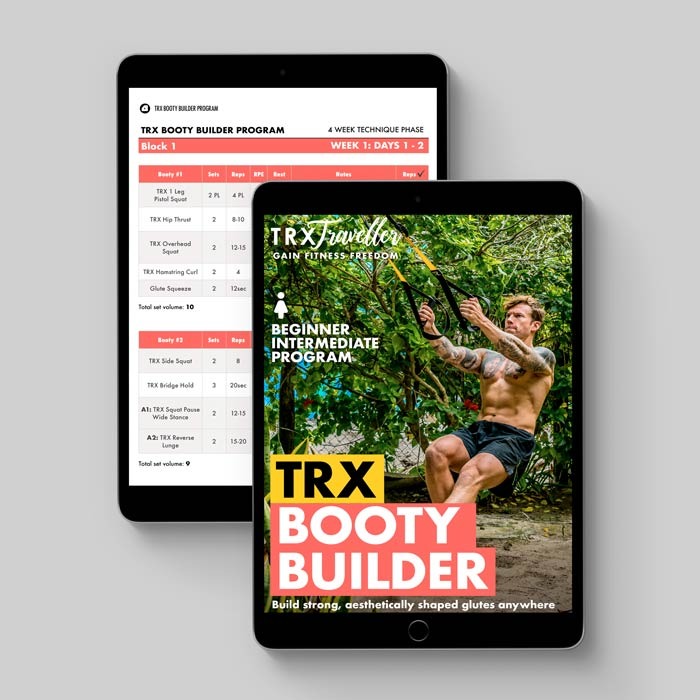 TRX BOOTY BUILDER WORKOUT PLAN AND EXERCISES