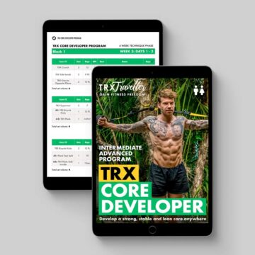 TRX CORE DEVELOPER WORKOUT PLAN AND EXERCISES