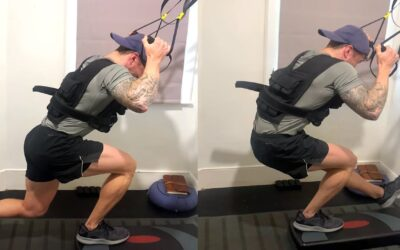 My current favourite TRX legs superset with weighted vest
